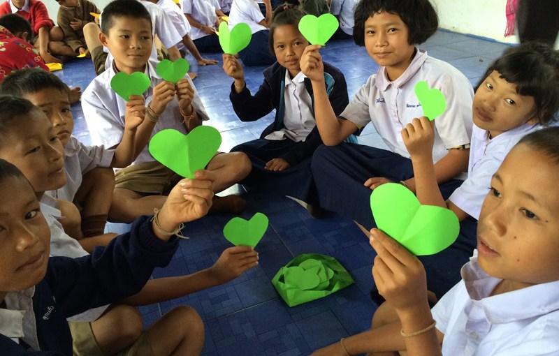 Happy children at the Blue Dragon's Children Foundation